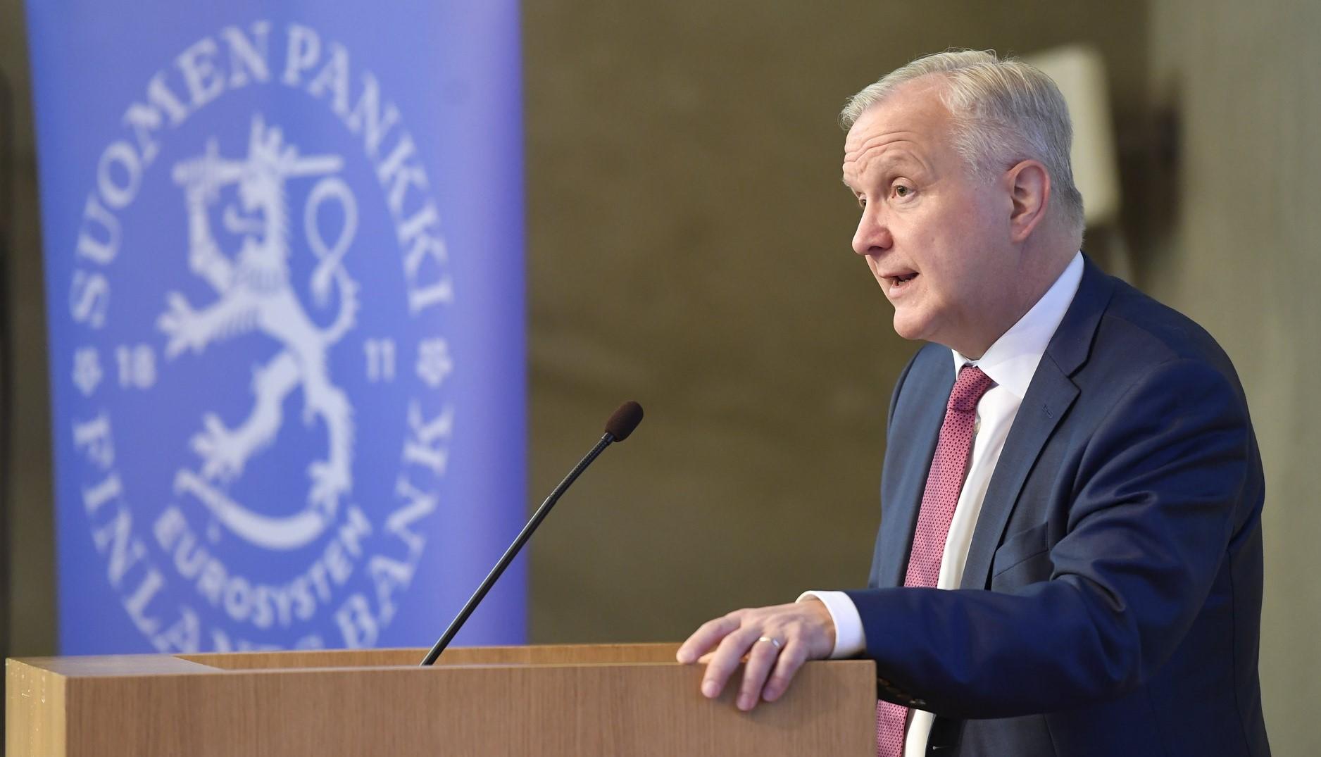 Olli Rehn peräänkuuluttaa toimia taloustaitostrategian laadintaan.Kuva: Heikki Saukkomaa, STT-Lehtikuva
