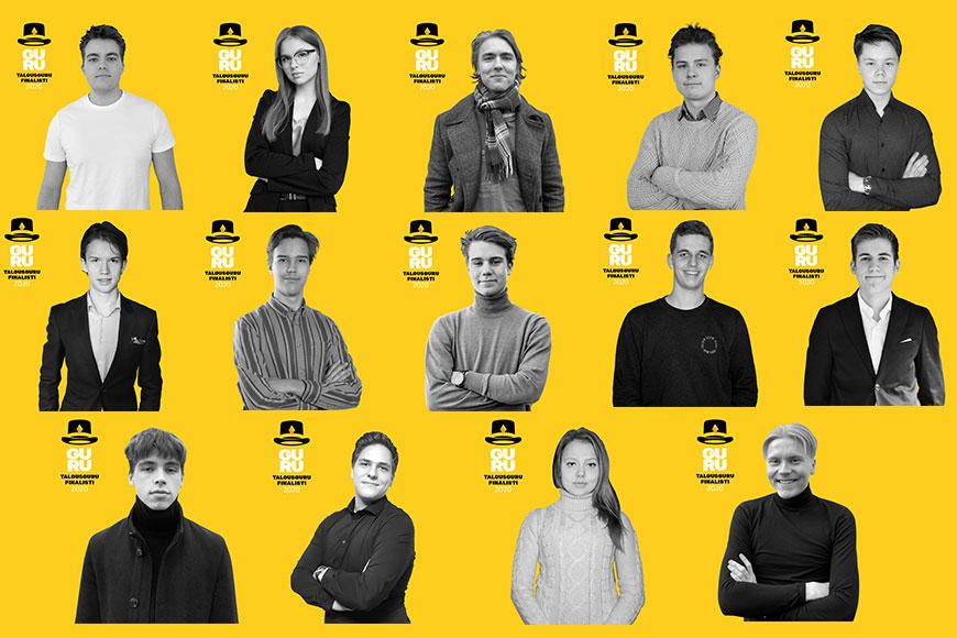 Vuoden 2020 Talousgurun tittelistä kilpailee 14 lukiolaista ympäri Suomen.