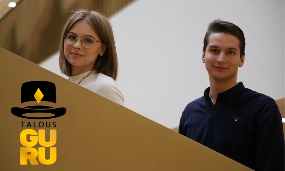 Talousgurufinalistit Essi Helminen ja Perttu Antikainen ovat aloittaneet tänä syksynä yliopisto-opinnot Aalto-yliopistossa.