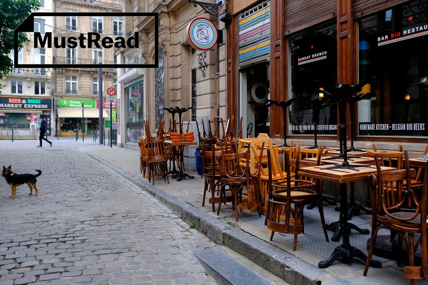 Eurooppa pelkää konkurssiaallon ehtivän ennen koronarokotetta. Vain ihme voi avata Belgian ravintolat ja baarit tänä vuonna. Kuva: Shutterstock.com