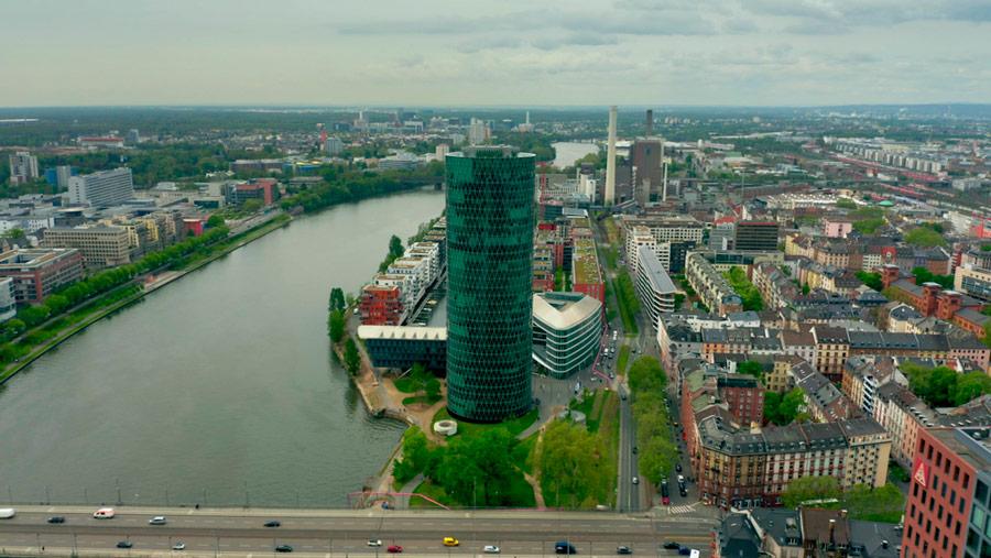 Euroopan vakuutus- ja lisäeläkeviranomaisen EIOPAn päämaja sijaitsee Frankfurtissa. Kuva: Shutterstock.com